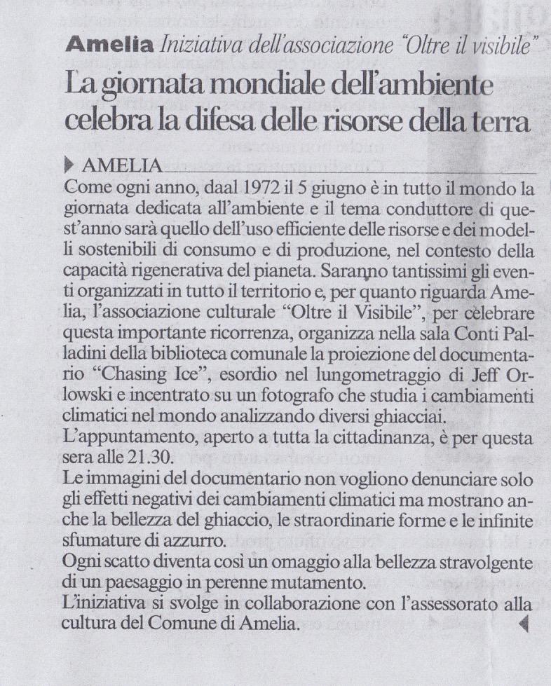 Corriere dell'Umbria 5 Giugno 2015