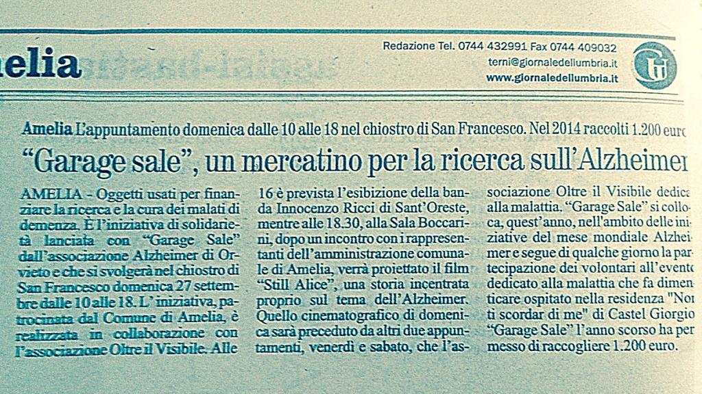 Il Giornale dell'Umbria, Venerdì 25 Settembre 2015
