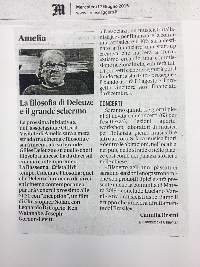 Il Messaggero dell'Umbria, mercoledì 17 Giugno 2015
