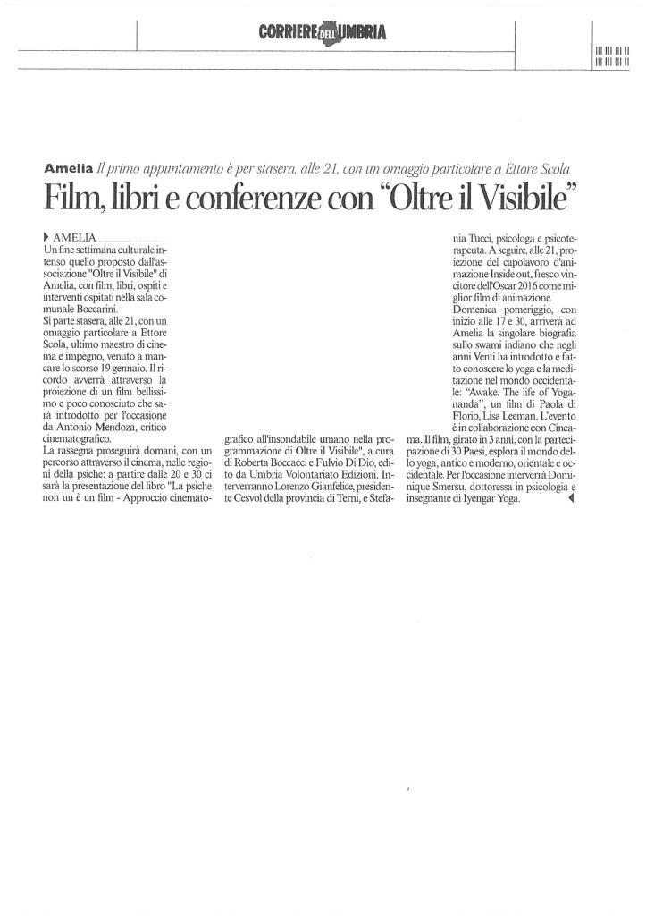 Corriere Umbria 18 marzo 2016