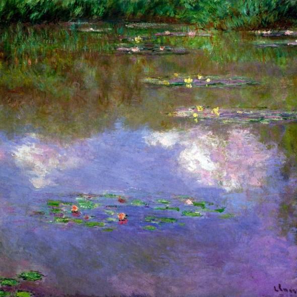 Claude-Monét-Water-Lilies-The-Clouds-1903