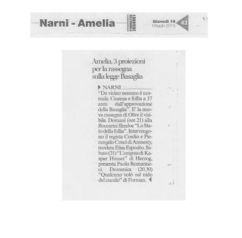 Corriere dell'Umbria, Giovedì 15 Maggio 2015