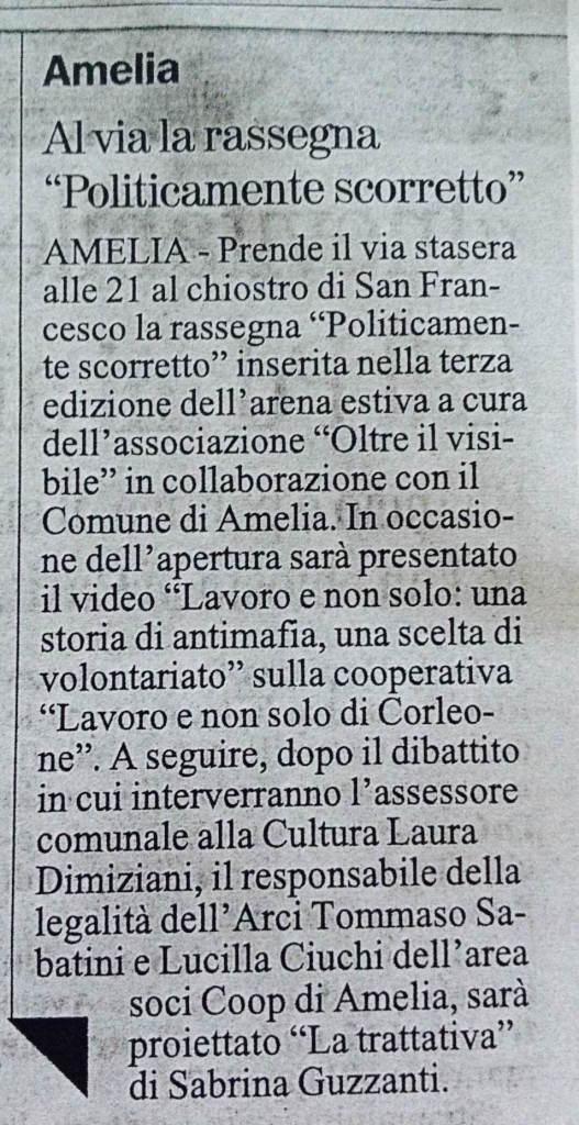 il Giornale dell'Umbria, venerdì 3 Luglio 2015